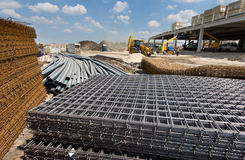 Construction material at building site Stock Image