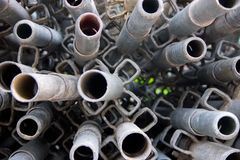 Construction material - Long Pipes 1 royalty free stock image