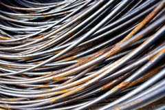 Construction Material - Roll of Metal Wire Strands Royalty Free Stock Images