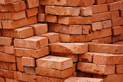 Construction material - stack of bricks Royalty Free Stock Photos