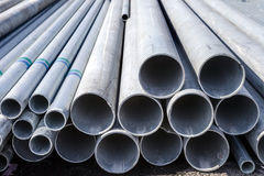 Construction material steel tube Royalty Free Stock Image