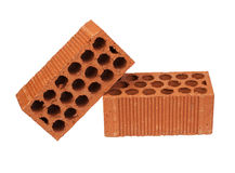 Construction Material two bricks Royalty Free Stock Image