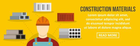 Construction materials banner horizontal concept Stock Images