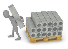 Construction materials - concrete blocks Royalty Free Stock Photo