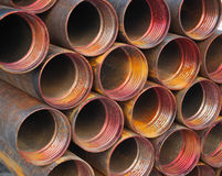Construction materials. Industrial iron pipes - construction materials background royalty free stock photography