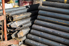 Construction materials with pipe Royalty Free Stock Photography