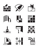 Construction materials and tools. Vector illustration Royalty Free Stock Image