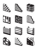Construction materials for walls Stock Images