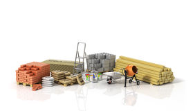 Construction materials. On the wtite background Stock Photos