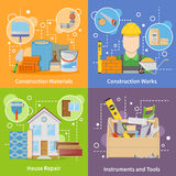 Construction Materials 2x2 Icons Set Royalty Free Stock Photography