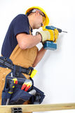 Construction. Mature contractor Royalty Free Stock Photography