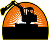 Construction Mechanical Digger Stock Image