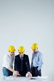 Construction meeting Royalty Free Stock Photo