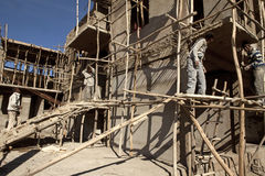 Construction in Mek'ele, Ethiopia Royalty Free Stock Images