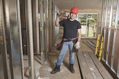 A construction  men working Royalty Free Stock Photos