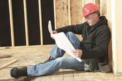 A construction  men working Stock Photography