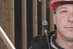 A construction men working outside Royalty Free Stock Image