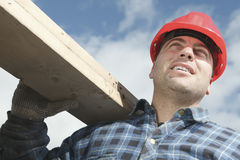 A construction  men working outside Royalty Free Stock Photography