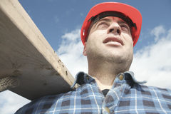 A construction  men working outside Royalty Free Stock Photos