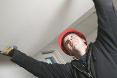 A construction  men working outside Stock Photos