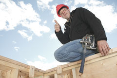 A construction  men working outside Royalty Free Stock Images