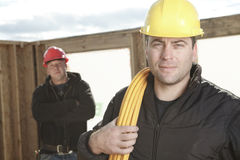 Construction men working outside Stock Photography
