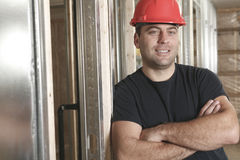 A construction  men working. A construction portrait of a man working Stock Images