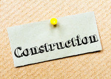 Construction Message Royalty Free Stock Photos
