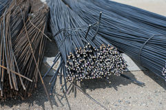 Construction metal rods close up view stock photography