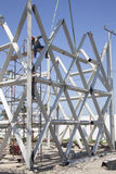 Construction of metal structures Stock Image