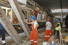 Construction of metro Royalty Free Stock Photos