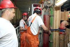 Construction of metro Stock Photos