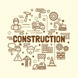 Construction minimal thin line icons set Stock Photo