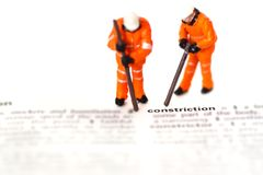 Construction model workers dictionary B Stock Photography