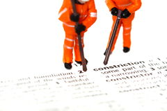 Construction model workers dictionary C Stock Images