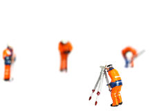 Construction model workers isolated A Royalty Free Stock Photo