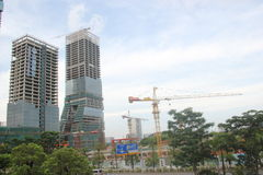 In construction of modern building in SHENZHEN NANSHAN Royalty Free Stock Photography