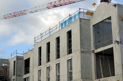 Construction of modern building Stock Photo