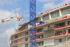 Construction of modern buildings Stock Photo