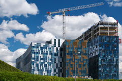 Construction of modern buildings Royalty Free Stock Photo