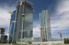 The construction of modern buildings in Astana Royalty Free Stock Images
