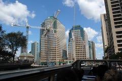 Construction of modern buildings, Toronto Stock Photos