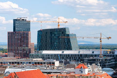 Construction of modern buildings in Vienna Royalty Free Stock Photos