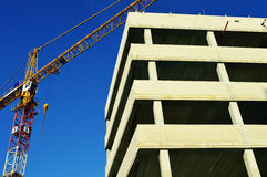Construction of modern commercial architecture Royalty Free Stock Images
