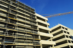 Construction of modern commercial architecture Royalty Free Stock Photo