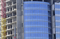 Construction of Modern Glass Building Royalty Free Stock Photo