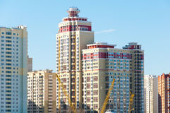 Construction of modern housing in Moscow, Russia Stock Image