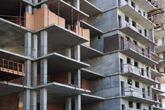 Construction of modern multi-storey buildings Royalty Free Stock Images