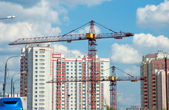 construction of modern residential building Stock Photo