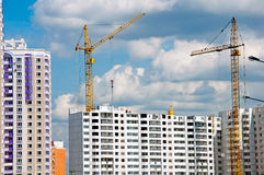 Construction of modern residential building Royalty Free Stock Photos